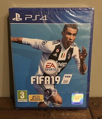 PS4 Sony PlayStation Game FIFA 19, Brand New still sealed