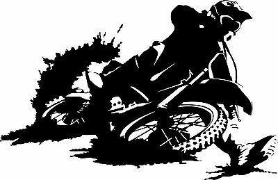 Motorcycle Dirt Sport Bike Car Truck Window Laptop Vinyl Decal Sticker