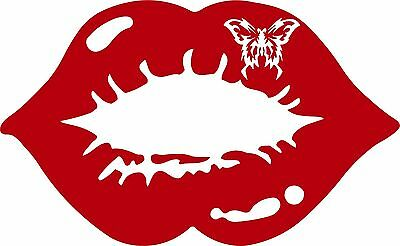Lips Kiss Mouth Smooch Car Truck Window Laptop Vinyl Decal Sticker Pick Color