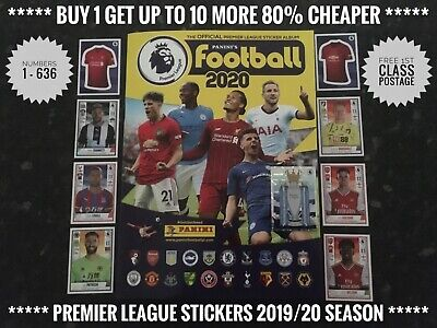 New Panini's Football 2020 Premier League Stickers, No.1-225, Free Post, Genuine