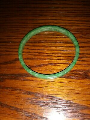 "Natural Green Jade 2"" Bangle"