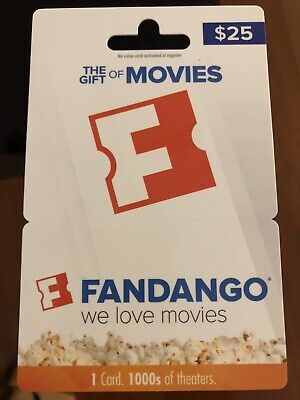 NEW Fandango $25.00 Gift Card Certificate Movie Movies Tickets Regal AMC XMAS NR