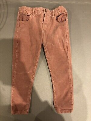 Zara Baby Toddler Girls Dusty Pink Trousers Cord Age 2-3 Years