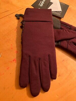 $49 Womens Echo Maroon Gloves S/M  Touch Thinsulate #9