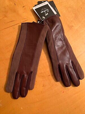 $89 Womens Echo Leather Brown   Maroon Gloves Small  Touch Thinsulate #13
