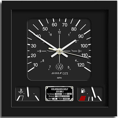 Car Speedometer Wall Clock - VW GOLF GTi | The Perfect Christmas Gift