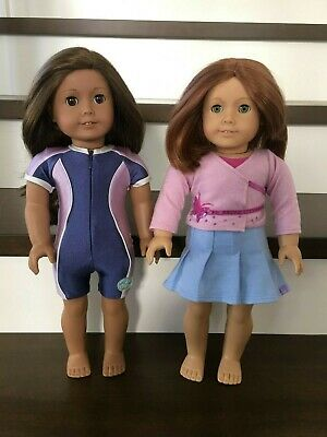 American Girl Lot of 2 Dolls (Truly Me / JLY #29 & Felicity Doll with Haircut)