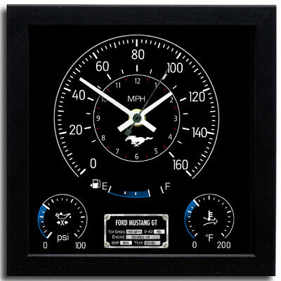 Car Speedometer Wall Clock - Ford Mustang GT | Race Active Christmas Exclusive