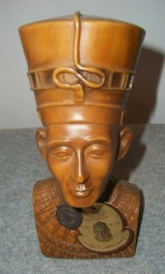 """Queen Nefertiti of Egypt Solid Bust Resin Compound 8"""" w/ AL ASEEL Tag/Medallion"""