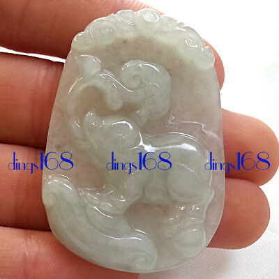 Chinese Certified 100% Natural A Jade Jadeite Twelve zodiac Pig Pendant JD29