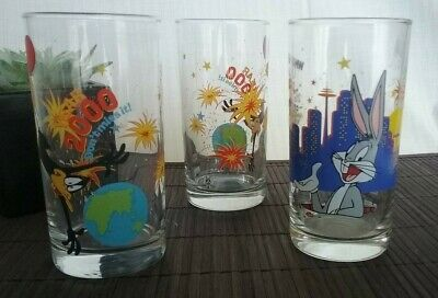 IXL Collectables Drinking Glasses Year 2000 X 3 Limited Edition