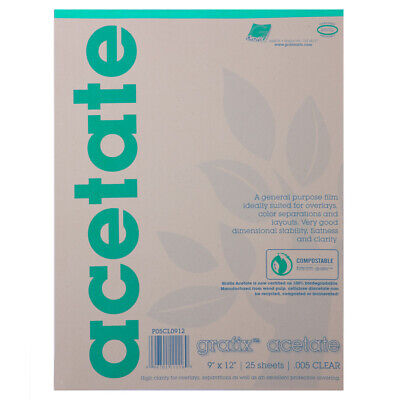 Grafix Biodegradable Clear Acetate .005 Pad 19x24""""