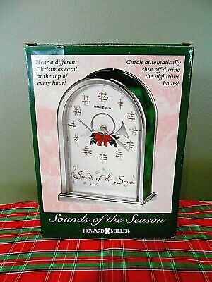 Howard Miller Sounds Of The Season Christmas Clock Carols Each Hour-New In  Box!