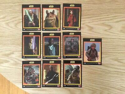STAR WARS EPISODE 1 COMPLETE SET OF 10 CARDS By KFC Issued YEAR 1999