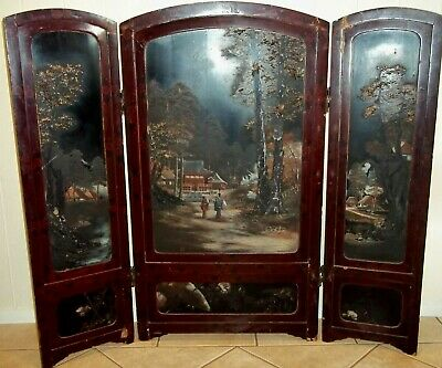 Antique Japanese Folding Screen , pick up in Geelong