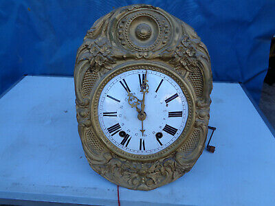 Antique Movement Clock Comtoise Pattern 19th Century Pendulum Antiquity France