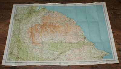 Map: North Yorkshire Coast - Bartholomew's Half-Inch, Eng. & Wales, 7A.  1935