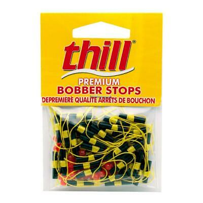 4 packs thill lindy bobber stop bead flo yellow 40 pr pack lindy stops