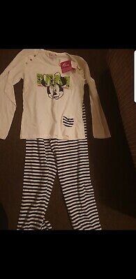 Girls disney minnie mouse Outfit leggings long sleeved top age 12-13 new