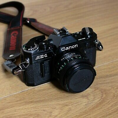 Canon AE-1 35mm SLR Film Camera with FD 50mm F/1.8 Lens *Near Mint Condition*