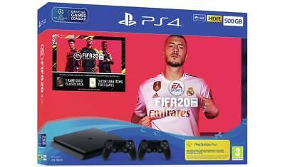 Sony PlayStation 4 500GB FIFA 20 and Second DualShock 4 Controller Bundle -...