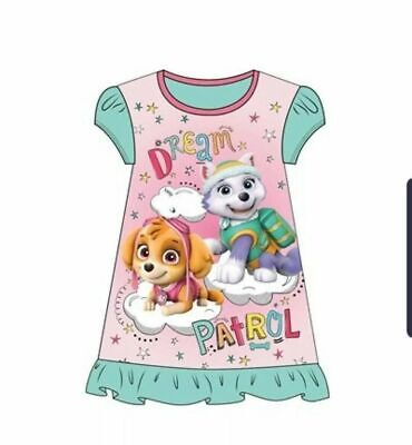 Girls Toddlers Official Paw Patrol Nightdress Pink Green Size 2 to 6 years NEW
