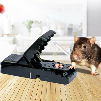 6Pcs Rat Mouse Snap Trap Reusable Spring Pedal Rodent Pest Control In/Outdoor