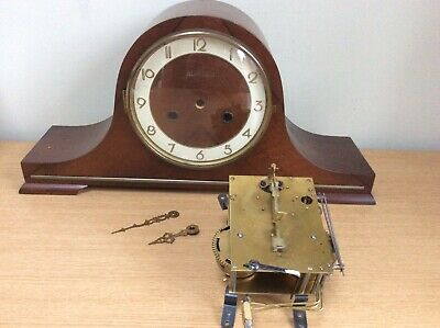 Antique Wooden Mantle Clock Alanbury Case & C Rosenfelder Co Germany Inners
