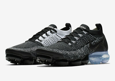 NIB Nike Air Vapormax Flyknit 2 Men's Size US 9.5 EUR 43 White/Black 942842-016