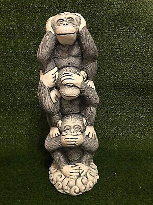 Latex And Fibreglass Mould - 3 Wise Chimpanzees Ornament Mould