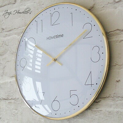 Gold White Wall Clock Modern CLOCK  Modern Home Deco Kitchen Living Room 30cm