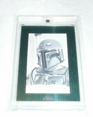 Topps Chrome Star Wars Perspectives 2015 - Boba Fett Sketch by Kris Penix Card