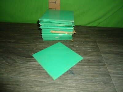 vintage NOS new old stock NEVER USED plastic tile lot green