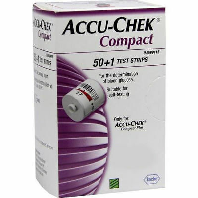 Accu Chek Compact Test Strips 5 Boxes (Aug - 2020) LONG EXPIRY DATES