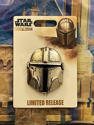 2019 Star Wars Disney Parks LR The Mandalorian Helmet Pin