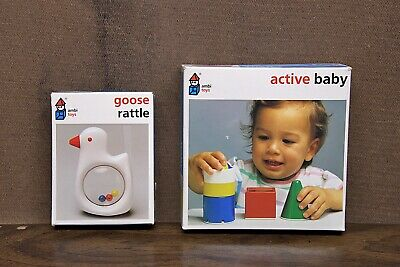 2 Child learning /activity toys by Ambi Toys - Goose Rattle & active baby