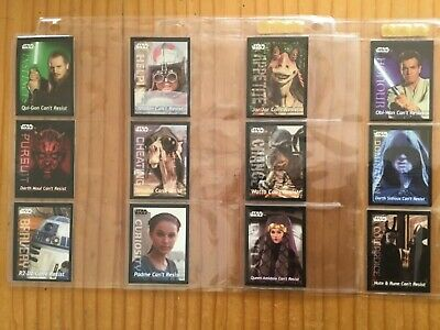 STAR WARS EPISODE 1 COMPLETE SET OF 12 CARDS By LAYS Issued YEAR 1999
