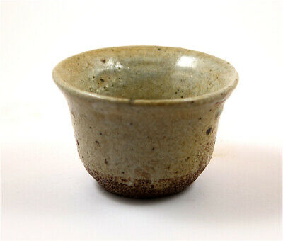 Japan Meiji Period old Karatsu-yaki glazed pottery cup