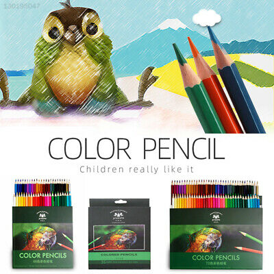 Wooden Drawing Pencil Set Artist Painting Pencil Coloring Crayons Professional