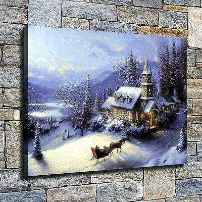 "12""x16""Christmas came home HD canvas photos home decor wall Art posters painting"