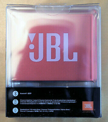 JBL Go Portable Wireless Bluetooth Rechargeable Speaker (Red) By Harman *NEW