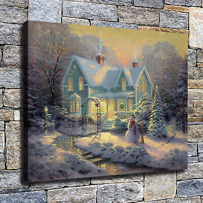 "12""x16""Christmas manor HD canvas photos home decor wall Art posters paintings"