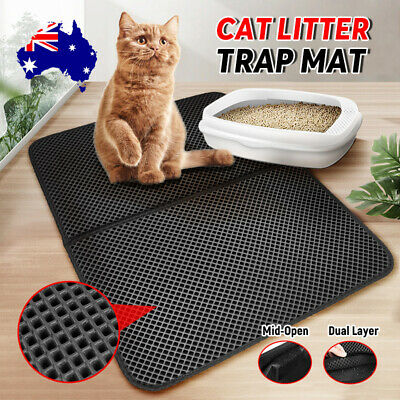 New Cat Litter mat Large Kitty Litter Box Trapping Sifting Mats Waterproof Urine