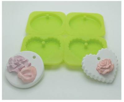 Mini Tablet Silicone Mold (One, Heart) 4 balls Silicone soap Mould plaster Mold