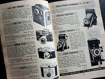 THE PHOTOGRAPHIC BLUE BOOK1954 Catalogue Camera Photography Accessories England