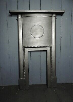 Original Early 20th Century 1930s Art Deco Cast Iron Fireplace Surround (HB333)