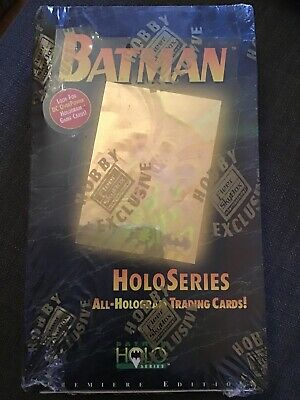 batman holo series trading cards display Skybox DC