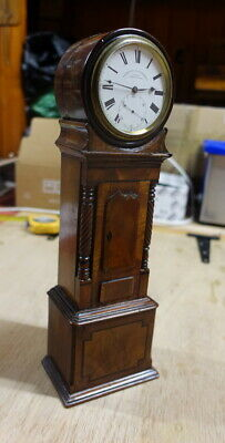Very rare C.1875 miniature fusee 6 day grand-father clock by Barrund of London,