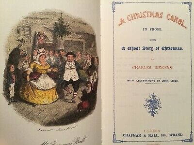 AS NEW HArdcover Facsimile Edition of 1843 A Christmas Carol by Charles Dickens