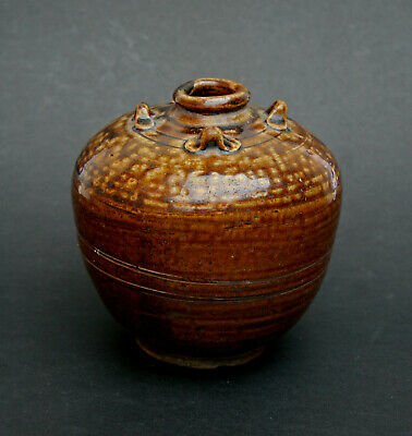 Antique Cambodian Khmer Angkor Wat Period Pottery Jar